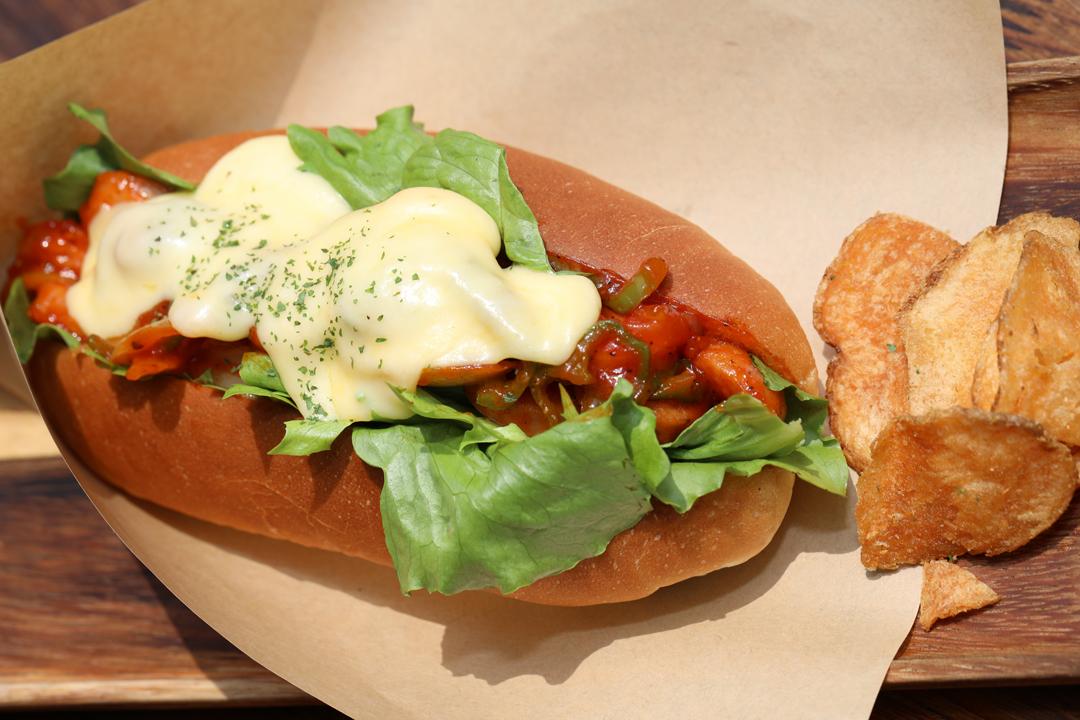 Ketchup-sausage-Cheese-Dog(ケチャップソーセージチーズドック)レンカフェ(LENN-CAFE)西新井